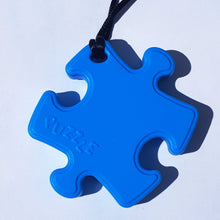 Load image into Gallery viewer, Puzzle shaped sensory chew with cord