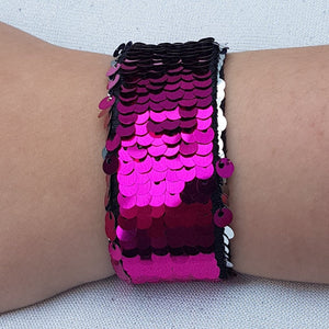 Mermaid Sequin Snap Bracelet