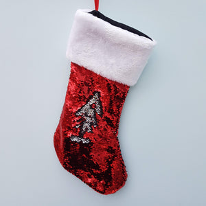 Reversible Sequin Christmas Stocking