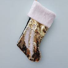 Load image into Gallery viewer, Reversible Sequin Christmas Stocking
