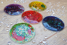 Load image into Gallery viewer, Squidgy Sparkly Sensory Circles (set of 5)