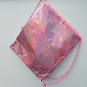 Sequin Drawstring Bag