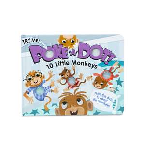Poke-A-Dot Book: 10 Little Monkeys