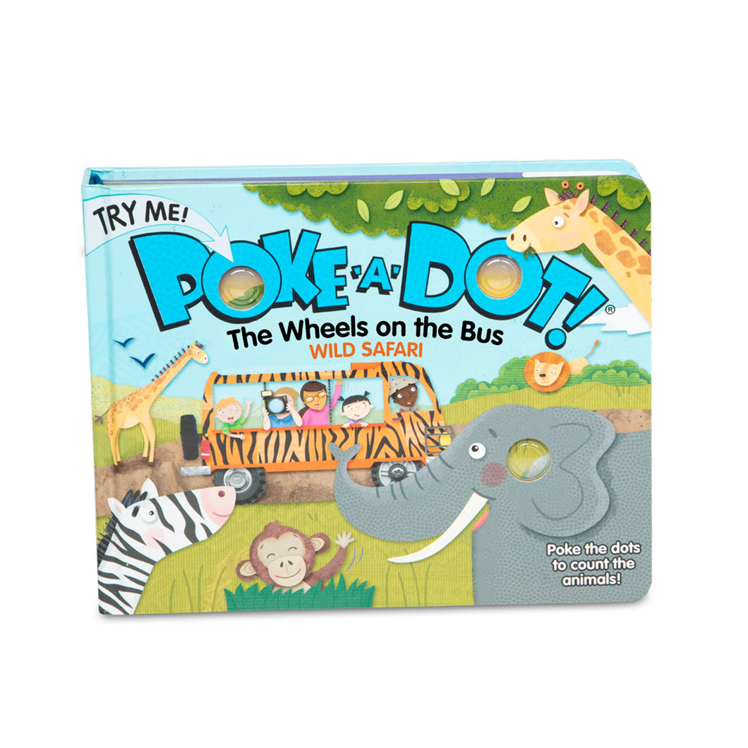 Poke-A-Dot Book: The Wheels on the Bus Wild Safari