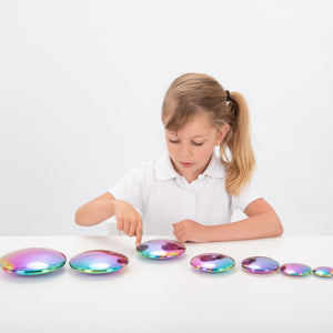 Sensory Reflective Colour Burst Buttons - Set of 7
