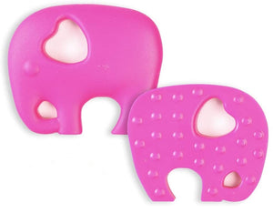 Pink Elephant shaped chew with breakaway cord