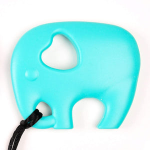 Turquoise Elephant shaped chew with breakaway cord