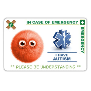 Autism Child - ICE card pack (incase of emegency)