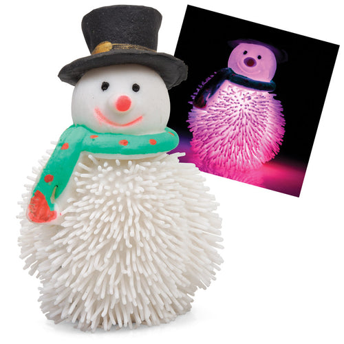 Christmas Flashing Squeezy Snowman