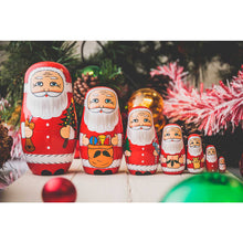 Load image into Gallery viewer, Father Christmas Nesting Dolls