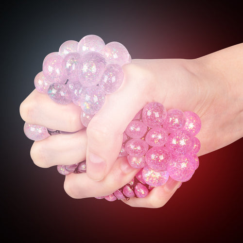 Light-Up Glitter Squishy Mesh Ball