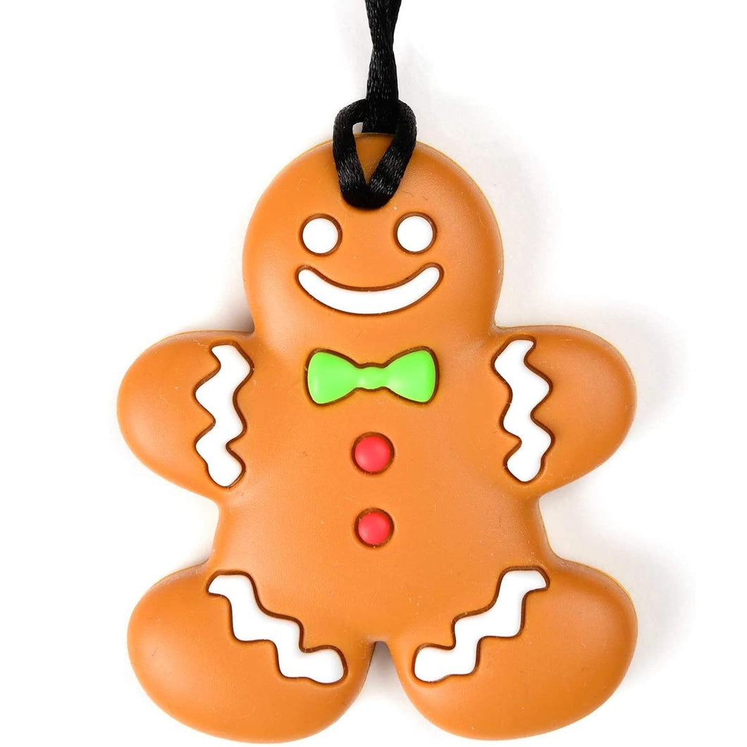 Gingerbread shaped chew with breakaway cord