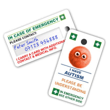 Load image into Gallery viewer, Autism Child - ICE card pack (incase of emegency)