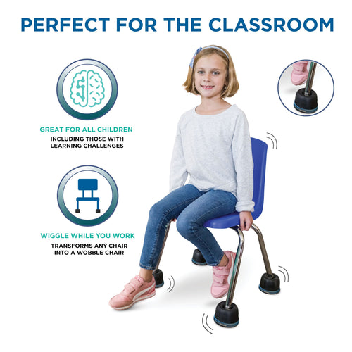 Wiggle Wobble Chair Feet (Set of 4)