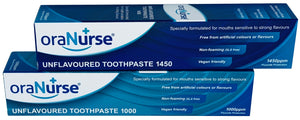Unflavoured toothpaste by OraNurse 1450ppm (suitable from ages 4 years to Adult)