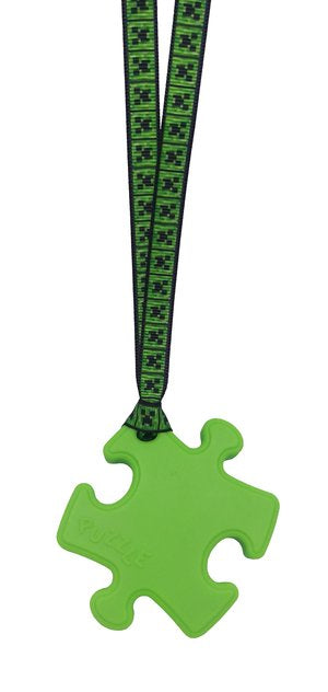 Puzzle shaped Chew with lanyard