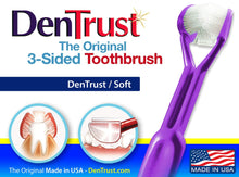 Load image into Gallery viewer, 3 Sided toothbrush - Dentrust
