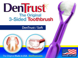 3 Sided toothbrush by Dentrust
