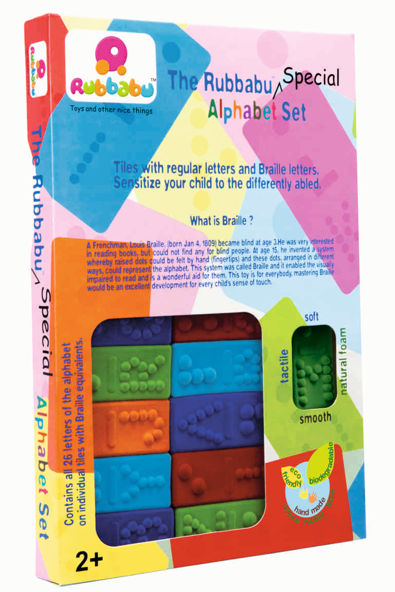 Rubbabu Special Alphabet Set (with Braille)