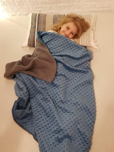 3kg Weighted Blanket Small (90cm x 100cm) in Blue/Grey