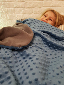 4kg Weighted Blanket Medium (100cm x 150cm) in Blue/Green