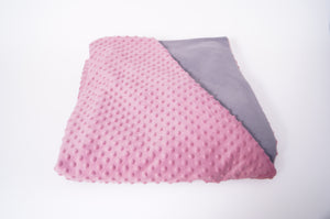 4kg Weighted Blanket Medium (100cm x 150cm) in Pink/Grey