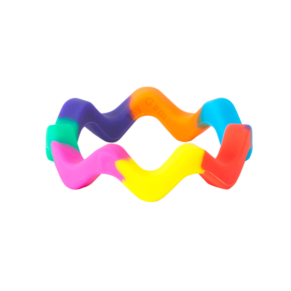 Chewigem - Rainbow Wavy Bangle