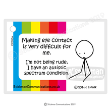 Load image into Gallery viewer, ASD Eye Contact card