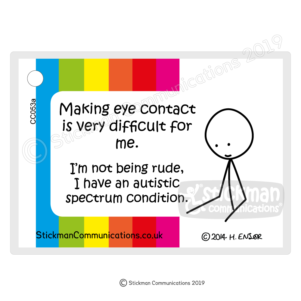 ASD Eye Contact card