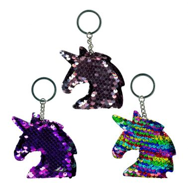 Sequin Unicorn Keyring