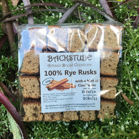 100% Rye Rusks with a hint of Cinnamon (400g)