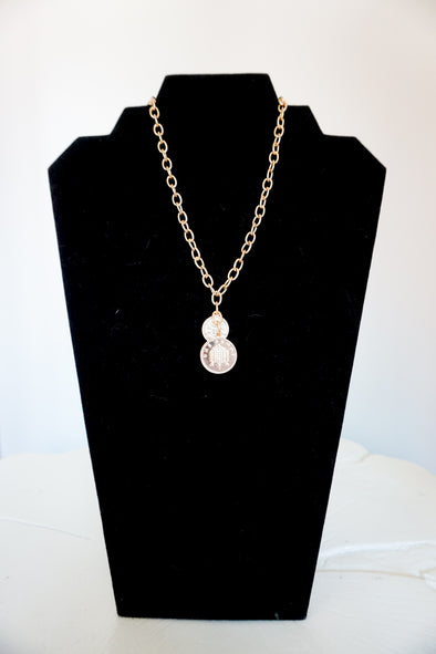 *MK DESIGNS* Double Coin Necklace - Barr Bones