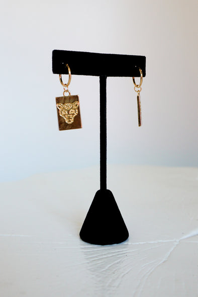 *MK DESIGNS* Tiger Tag Earrings - Barr Bones