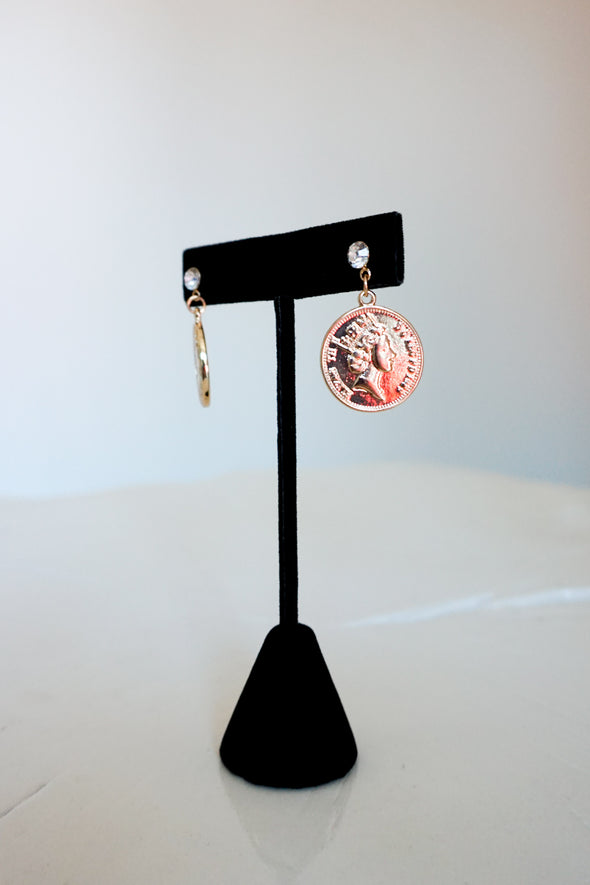 *MK DESIGNS* Coin Ear - Barr Bones