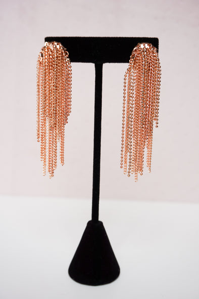 Tassel Earrings- Rose Gold - Barr Bones