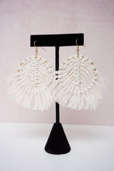 Woven Fan Earrings - Barr Bones