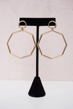 Octagon Cut-out Earrings - Barr Bones