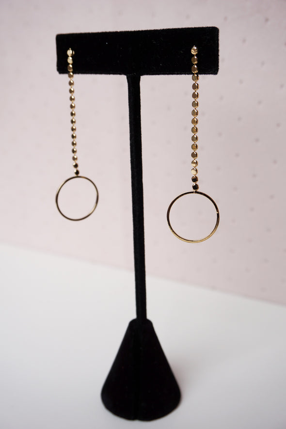 Circle Drop Earrings - Barr Bones