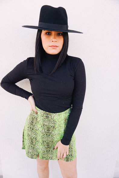 Snakin' into Fall Skirt- Neon - Barr Bones