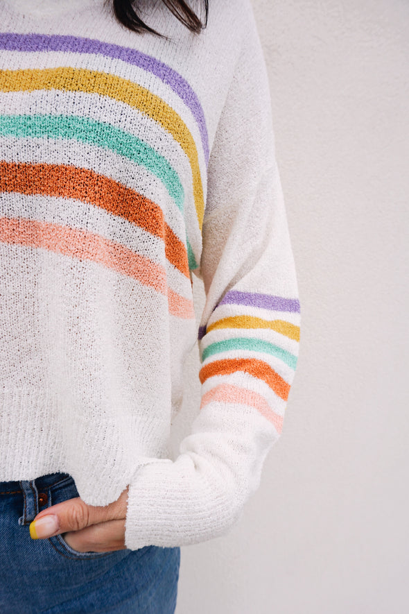 Unicorn Stripe Sweater - Barr Bones