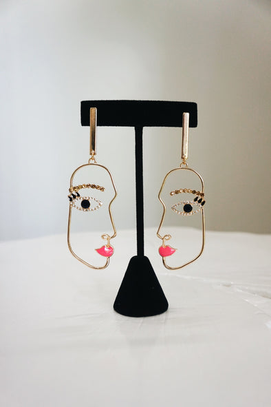 Jeweled Face Earrings - Barr Bones