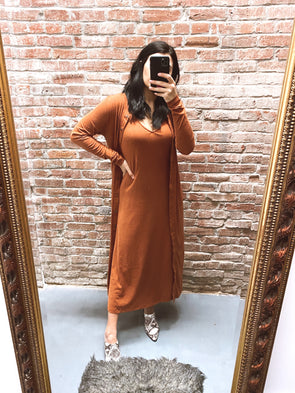 Spiced Chai Midi Dress Set