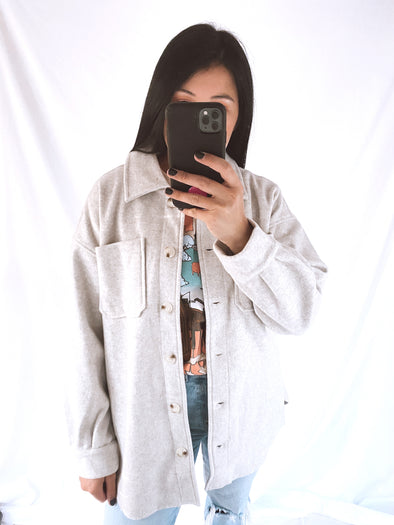 Oatmeal Oversized Shacket