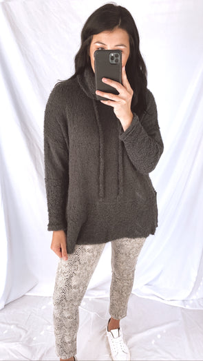 Charcoal Blanket Sweater