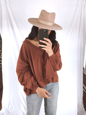 Brick Balloon Sleeve Top