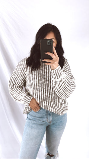 Grey Bandit Sweater
