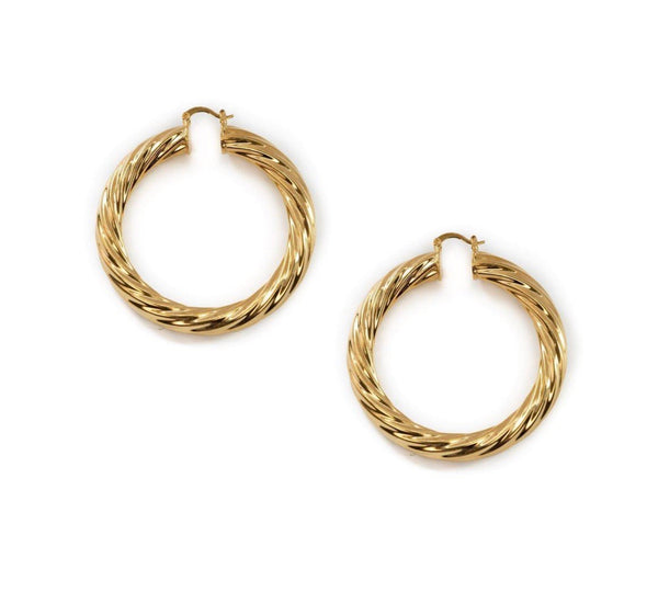 *BRACHA* Milan Large Hoops