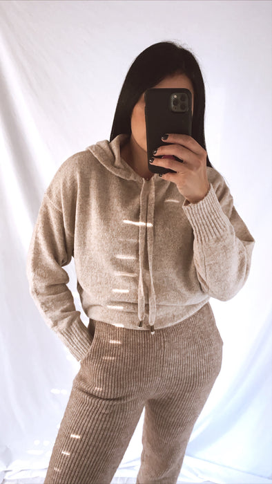 Taupe Sweater Hoodie