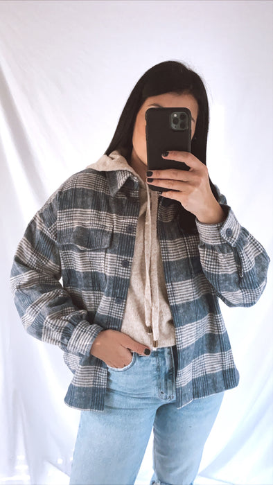 Moonlight Blue Plaid Flannel