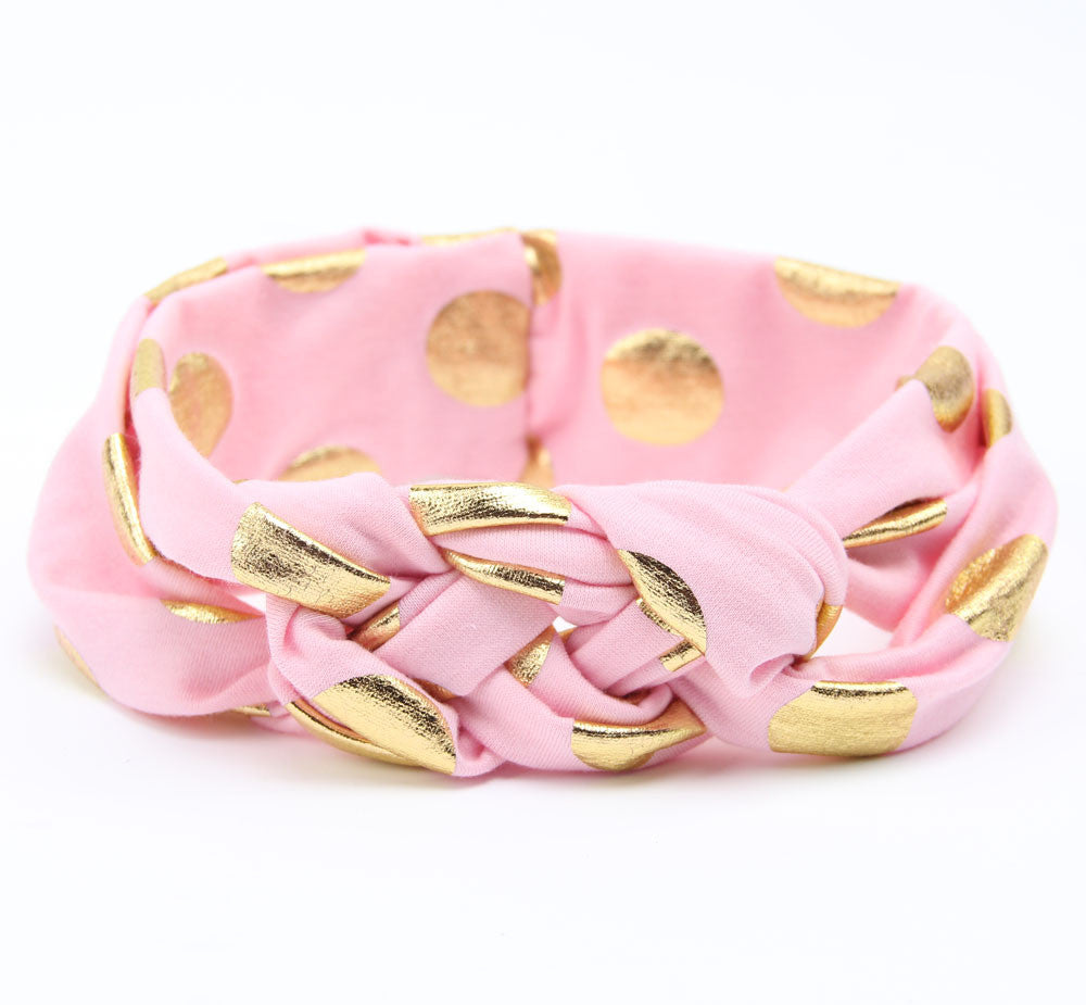 Kaelyn Pink & Gold Headband